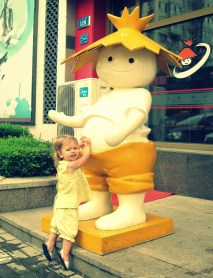 Isabel liked this fast food character's belly button