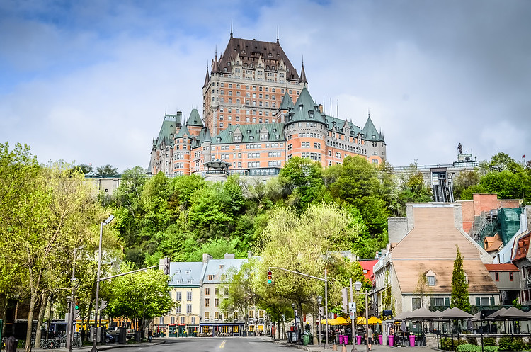 Château Frontenac from rue Dalhousie