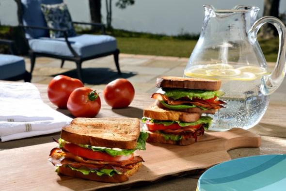 """Prosciutto Lettuce and Tomato Sandwich """"PLT"""""""