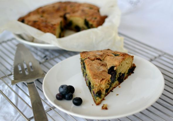 Blueberry Scone Cake
