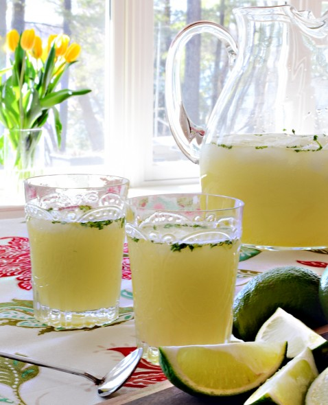 Springtime Vodka Wedge with Mint