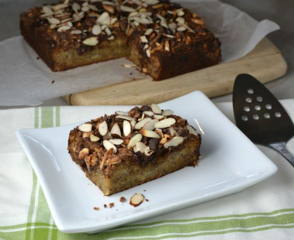 Banana Crumb Cake with Chocolate Streusel