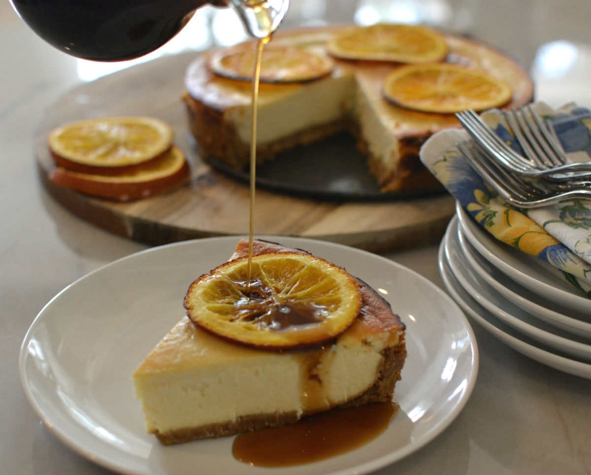Spice rum cheesecake