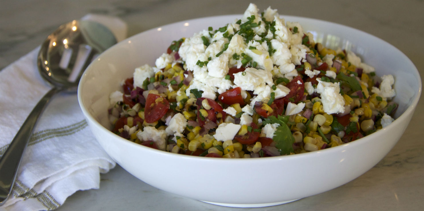 Charred Corn and Feta Salad