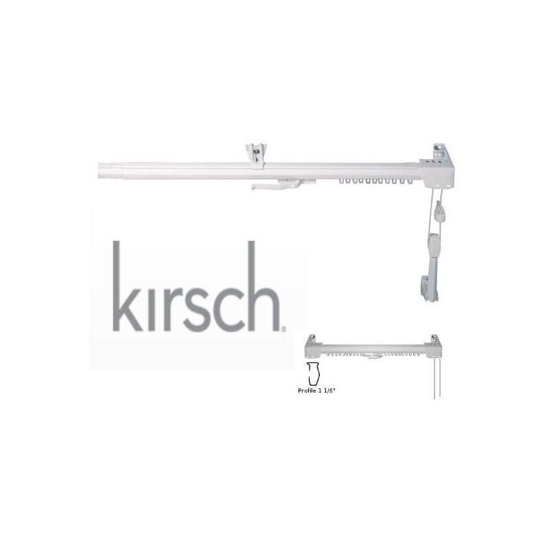 Binario ghibli per tenda arricciata alluminio bianco apertura centrale. Bastone Scorritenda Per Tende Lineare Apertura Centrale