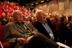 Lars Werner och CH Hermansson.