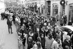Andra Långgatan fylldes av tusentals antinazister.