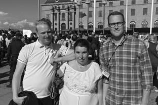 Gustav, Sara och Emil.
