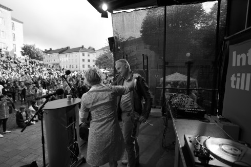 Åsa Gustafsson och Jonas Sjöstedt.
