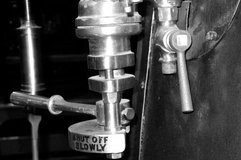 Detalj från ett gammalt brandfordon.