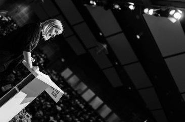Hanna Cederin, förbundsordförande Ung Vänster. Fotograf: Jöran Fagerlund.