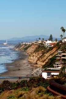 Encinitas coastline looking north