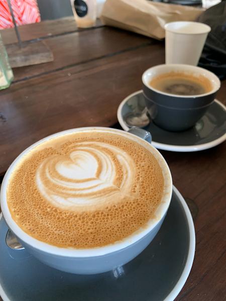 Coffee breaks during the road trip