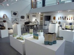 Display of ceramics in PR1 Gallery