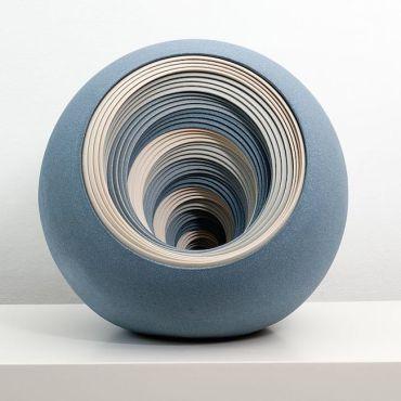 Blue spherical ceramic