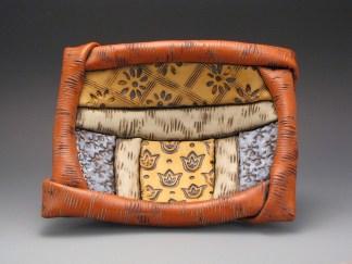 Multicoloured rectangular bowl