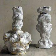 Lumpy white vessels