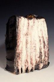 Rectangular vessel with with glaze