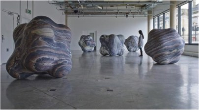 peter-randall-page shapes in clouds 2014 rosso luana marble