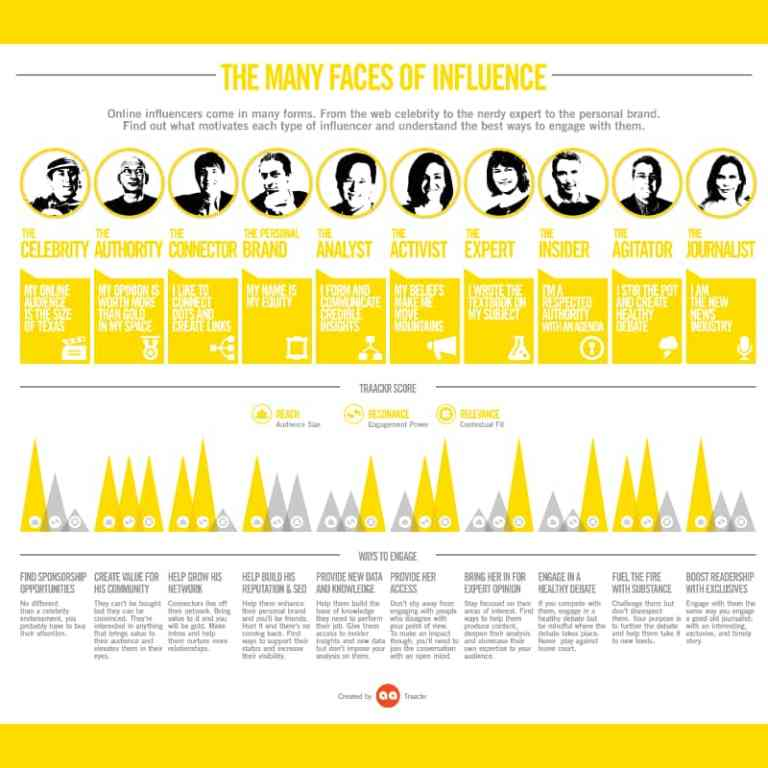 10 Types of Online Influencers infographic