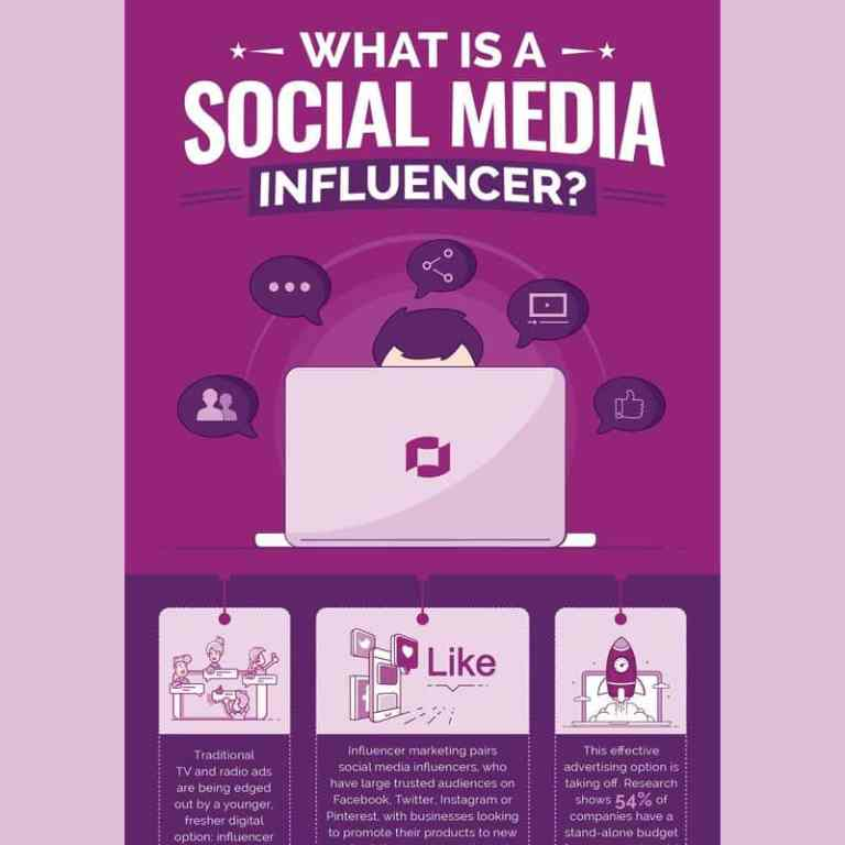 What is a Social Media Influencer infographic