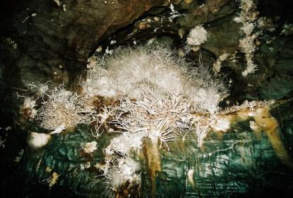 kryštálové unikáty v Ochtinskej aragonitovej jaskyni