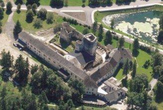 letecký náhľad - hrad Liptovský Hrádok