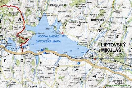 Liptovská Mara na mape