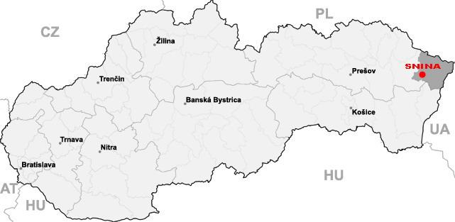 Snina - mapa
