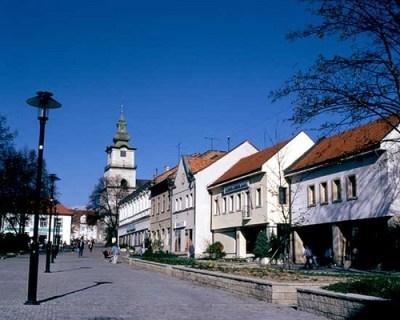 Námestie v meste Prievidza