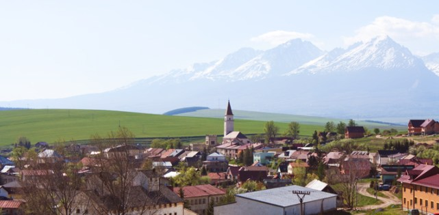 Obec Vrbov - panoráma