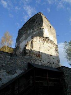 veža hradu Liptovský Hrádok