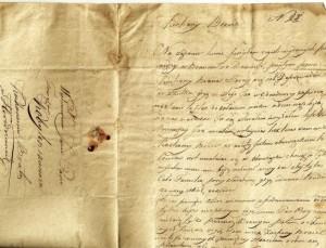 Fragment listu Kazimierza Kobylińskiego adresowanego do  wykonany prawdopodobnie                                                  starszego brata Tomasza.1