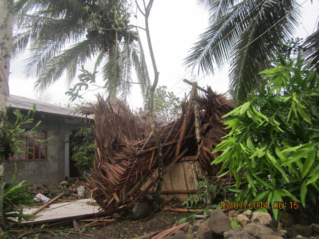 collapsed cottage