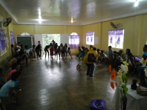 Doing a Kids Time at the PAMI Castilla Church (Pastor Redgie)