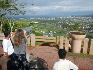 From on top of Lignon Hill you get a good view of the seaside city of Legazpi.  You also get a good view of Mayon Volcano and rice fields (see previous post).