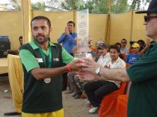Winner Captain with receiving trophy from the chief guest
