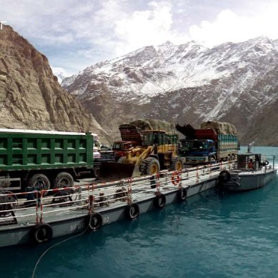 Pictorial updates from spillway of the dammed Hunza River