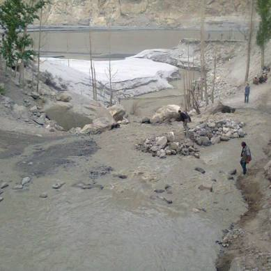 Shameful condition of a road in Gojal Valley, upper Hunza