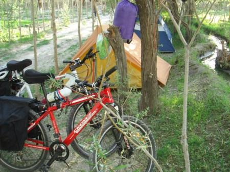 Our campsite at Keris