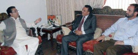 CM GB meets Dr. Sher Bahadur Anjum in Islamabad.