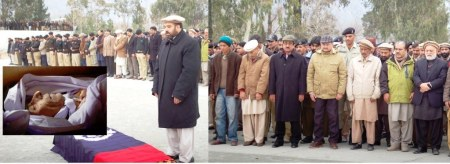The slain DSP had been shot  in Gilgit and he was laid to rest in Astore, his native district. File Photo