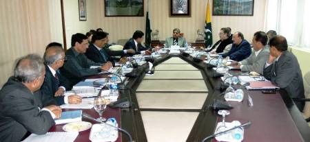 Islamabad: Chaudhary Barjees Tahir chairing a session of the Gilgit-Baltistan Power Development Board