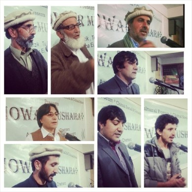 Poets from Gilgit-Baltistan and Chitral read Khowar poetry at Mushaira in Islamabad