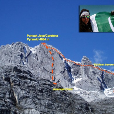 Samina and Mirza climb Carstensz Pyramid, Indonesia's highest peak