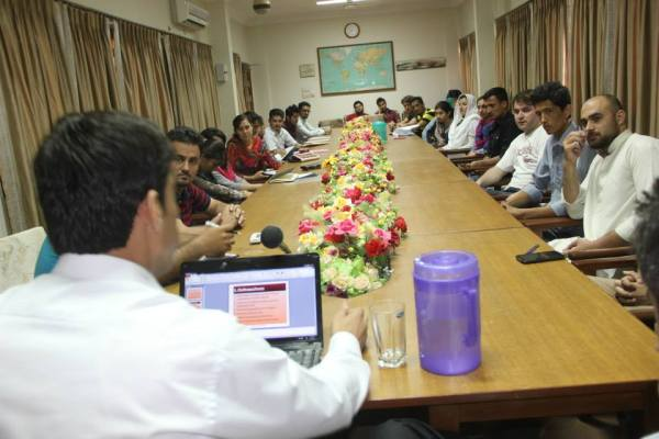 Meeting in progress at Karachi