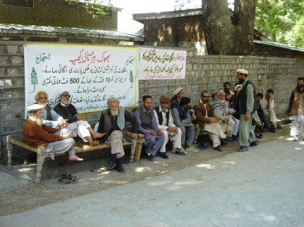 Hunger strike in Ayun Valley, Chitral