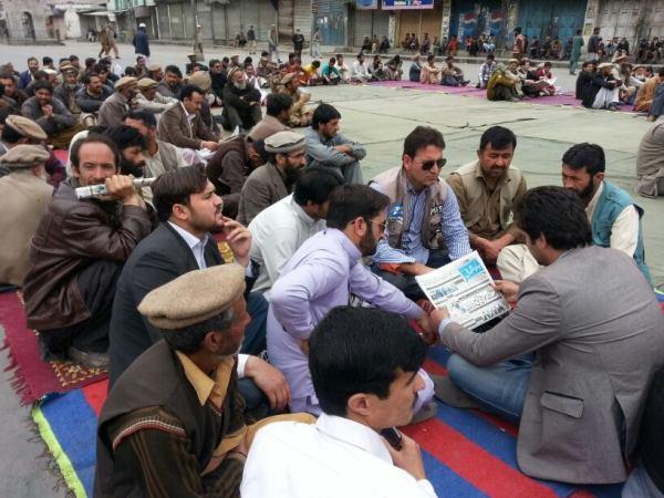 Media representatives at the Dhara in Gari Bagh, Gilgit