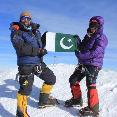 Samina and Mirza scaled Mt. McKinley, highest peak in North America
