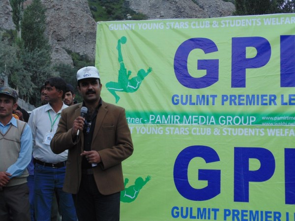 Assistant Commission of Hunza, Chief Guest, addressing the final ceremony